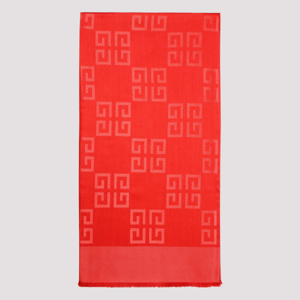 Red G patterned scarf