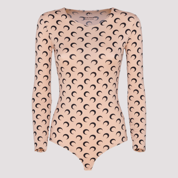 Beige bodysuit with moon print