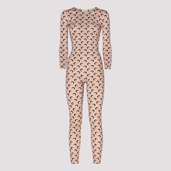 Allover moon beige jumpsuit