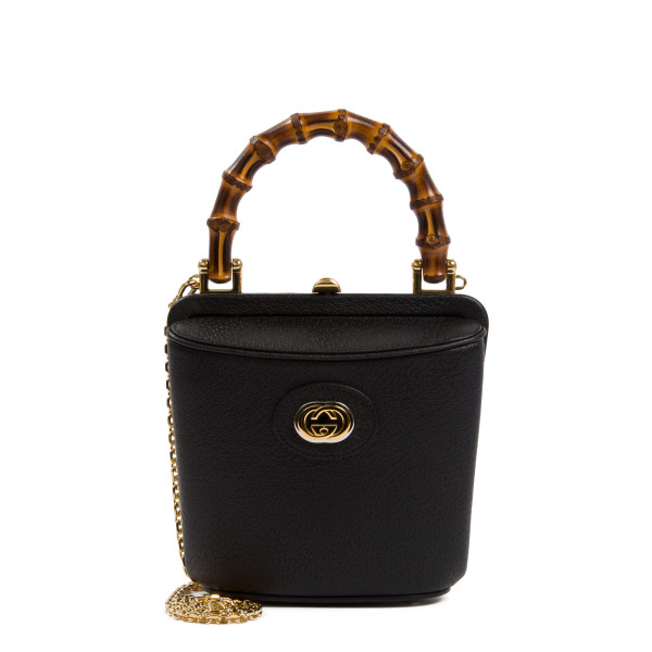 Black Marina mini bucket bag