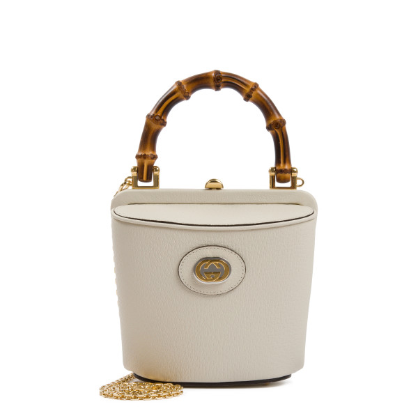 White Marina mini bucket bag