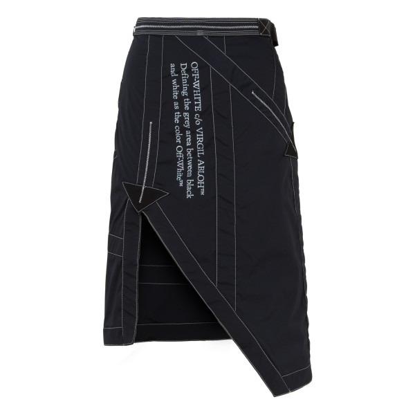 Black nylon parachute skirt