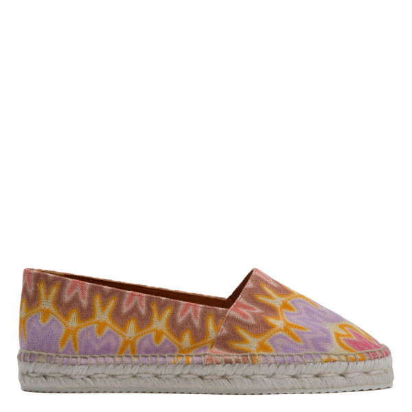 Printed knitted low espadrilles
