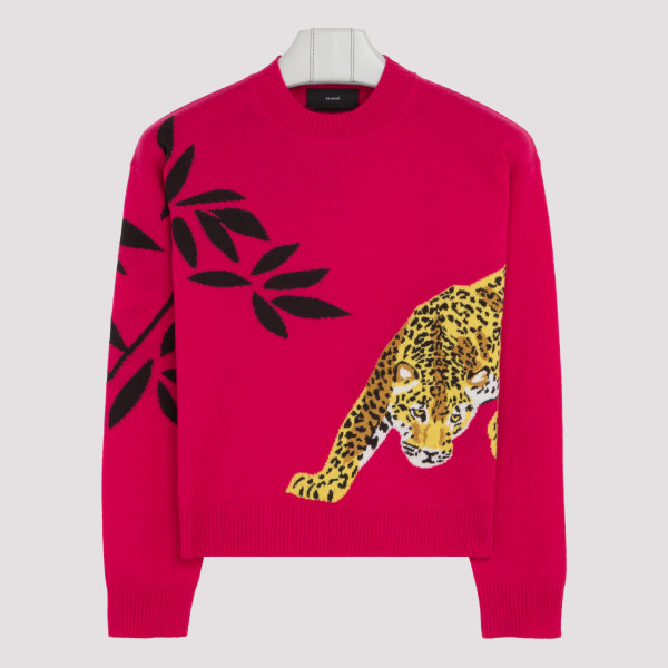 Fuchsia Jaguar sweater