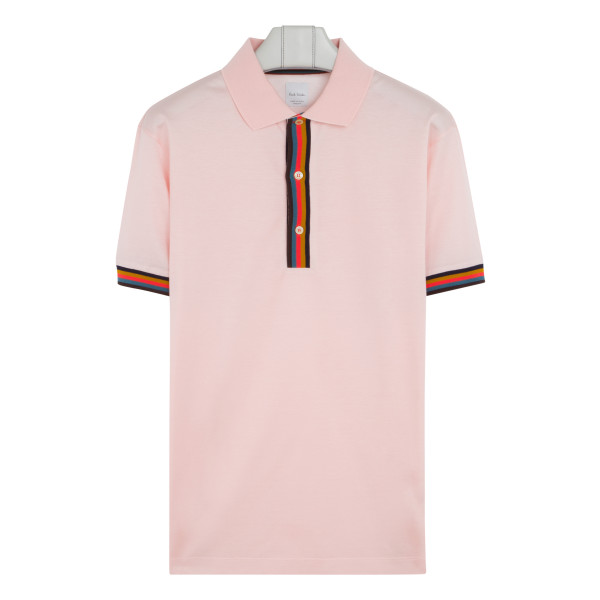 Gents pink cotton polo