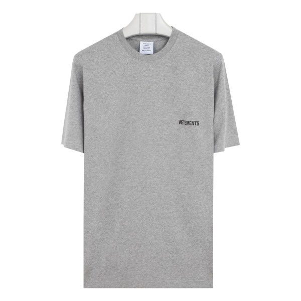 Gray cotton T-shirt with logo