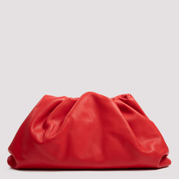 The Pouch red clutch