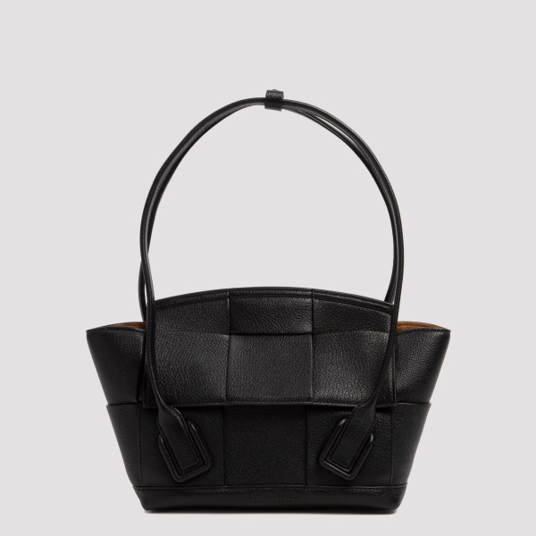 Black leather Arco bag
