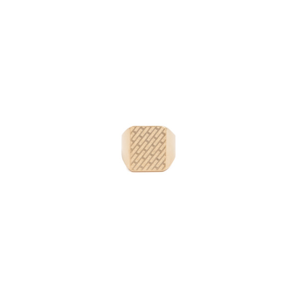 Gold-tone logo ring