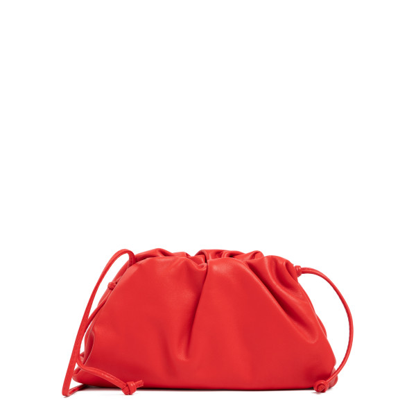 The Pouch red mini clutch