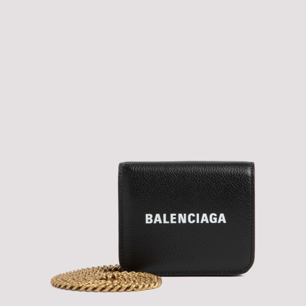 Black cash mini wallet on...
