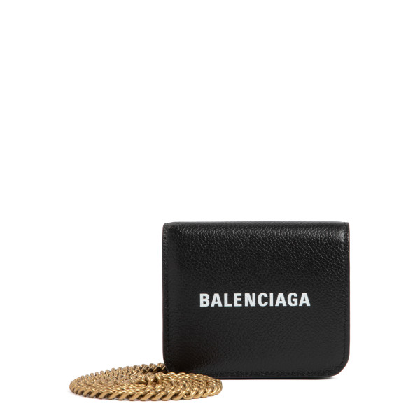 Black cash mini wallet on chain