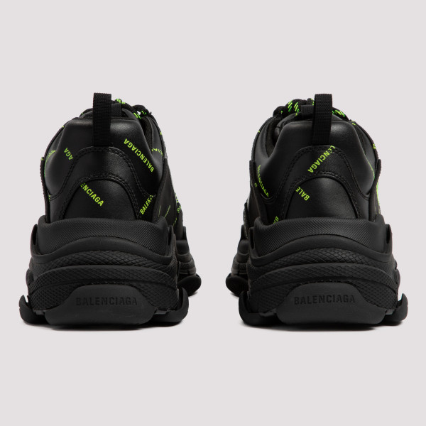 Triple S black sneakers with logo
