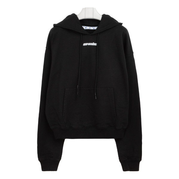 Black and red marker arrow hoodie
