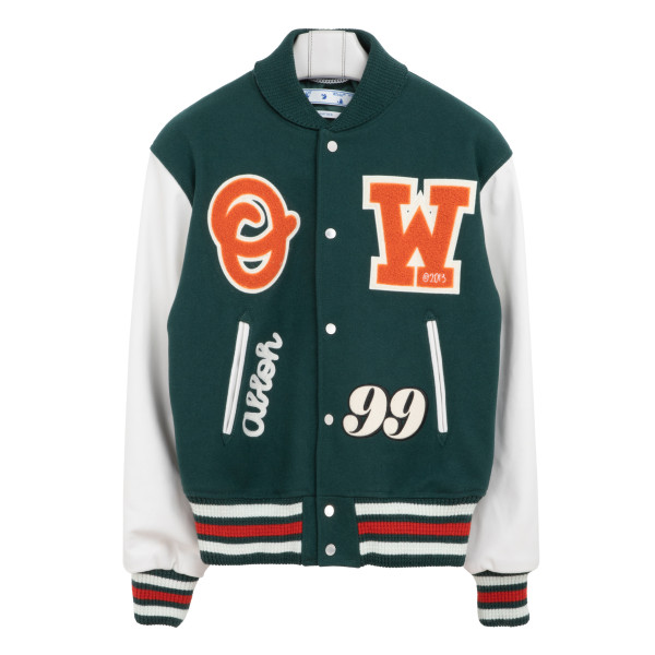 Green and white Barrel bomber jacket