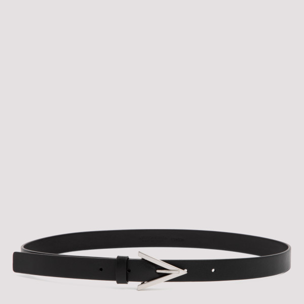 Black leather belt with...