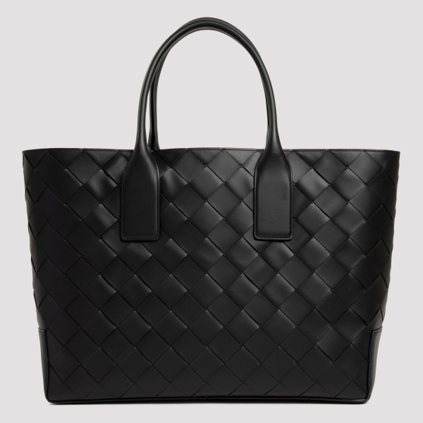 East/West black tote bag