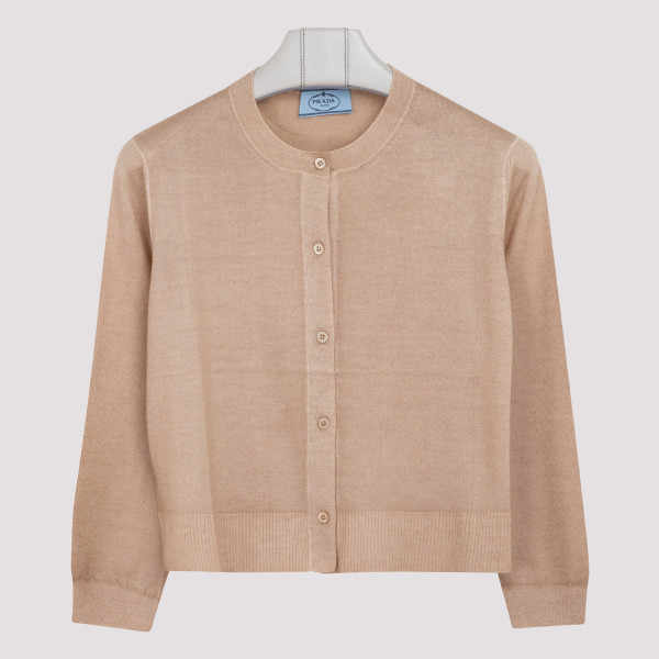Beige wool and cashmere...