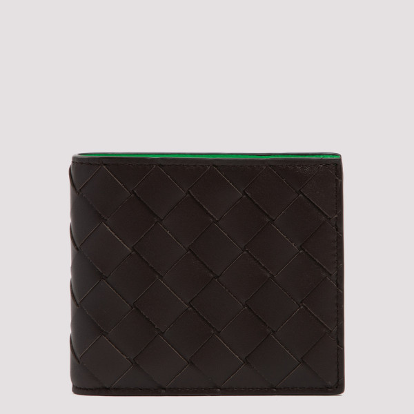 Intrecciato leather wallet