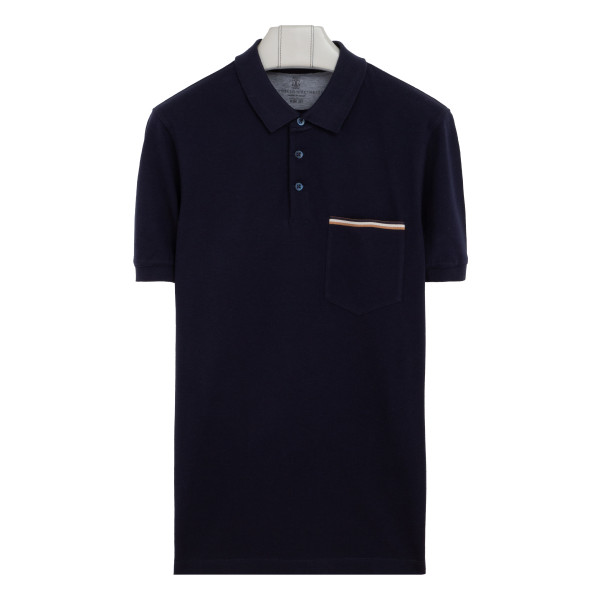 Blue polo piquet T-shirt