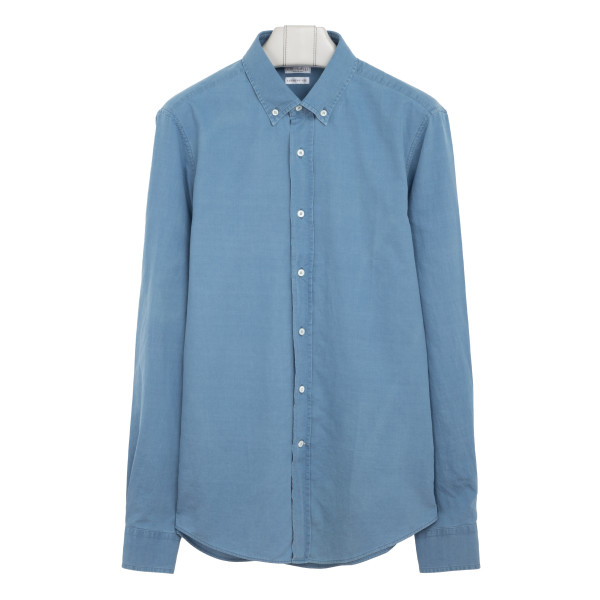 Blue denim effect shirt
