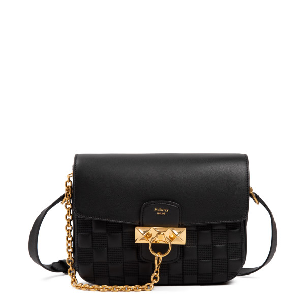 Keeley black satchel handbag