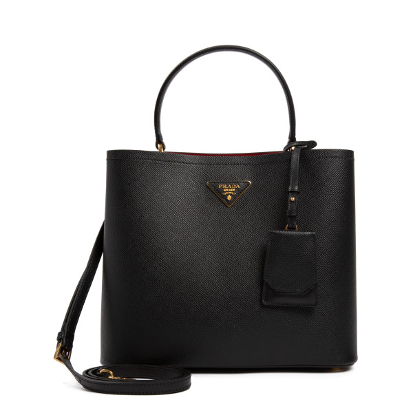 Panier black saffiano medium handbag