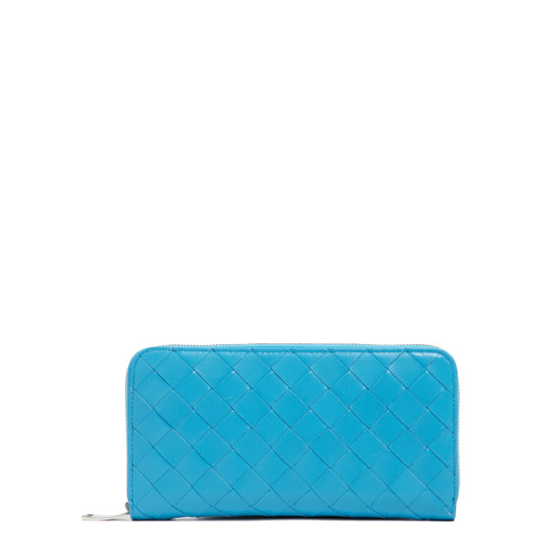Blue zip around wallet