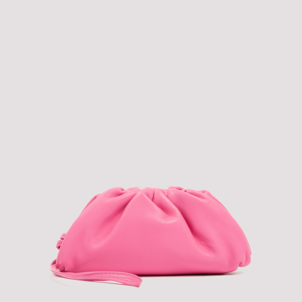 Pink pouch on strap