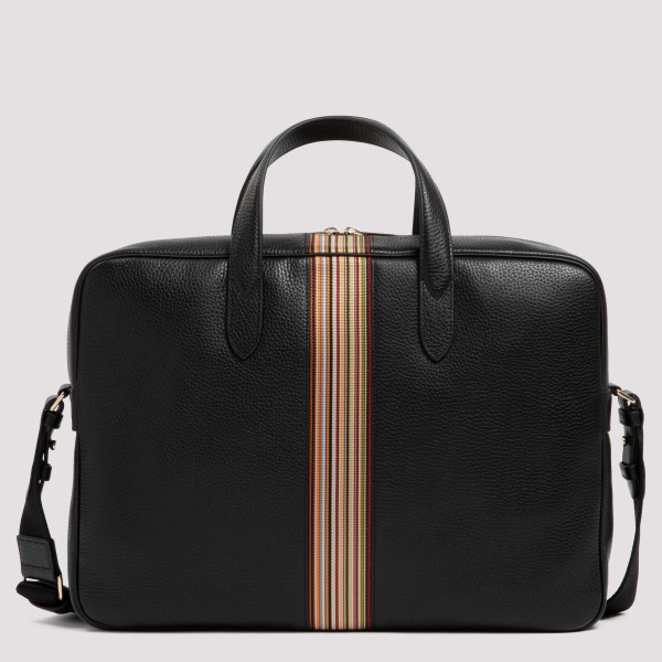 Black Signature Stripe Slim...