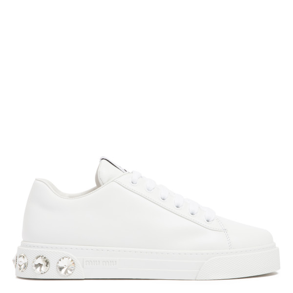 White jeweled sneakers