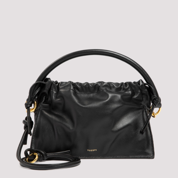 Bom black leather bag