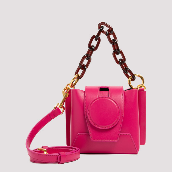 Daria fuchsia leather...