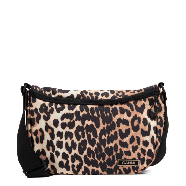 Leopard recycled tech fabric bag