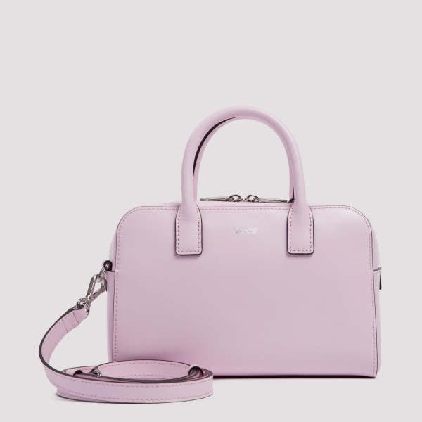 Blossom pink leather handbag