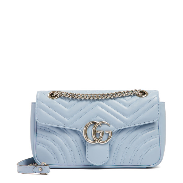 GG Marmont pastel blue matelassé small shoulder bag