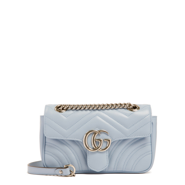Pastel blue Marmont matelassé mini bag