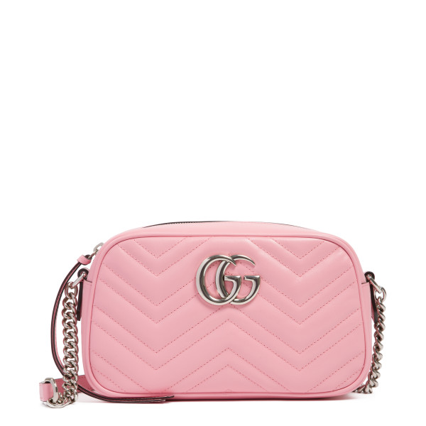 Pink GG Marmont small shoulder bag