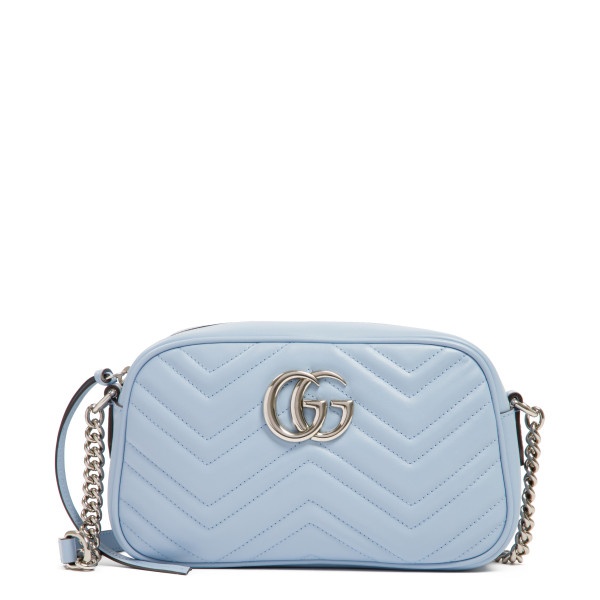 Pastel blue GG Marmont small shoulder bag