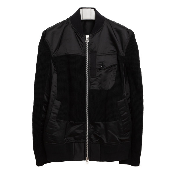 Nylon and twill blouson jacket