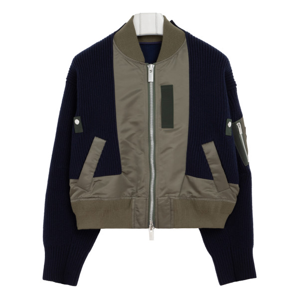 Navy and army green cardigan