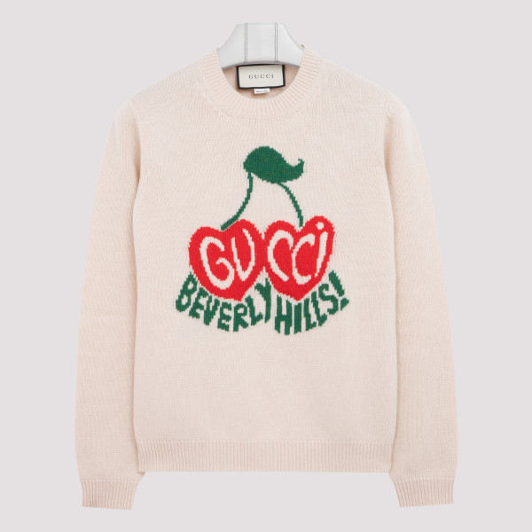 Wool sweater with cherry...