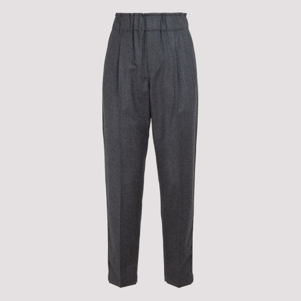 Gray Tailored jogger trousers