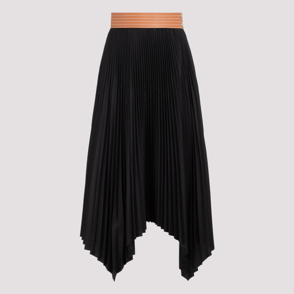 Black pleated skirt with...