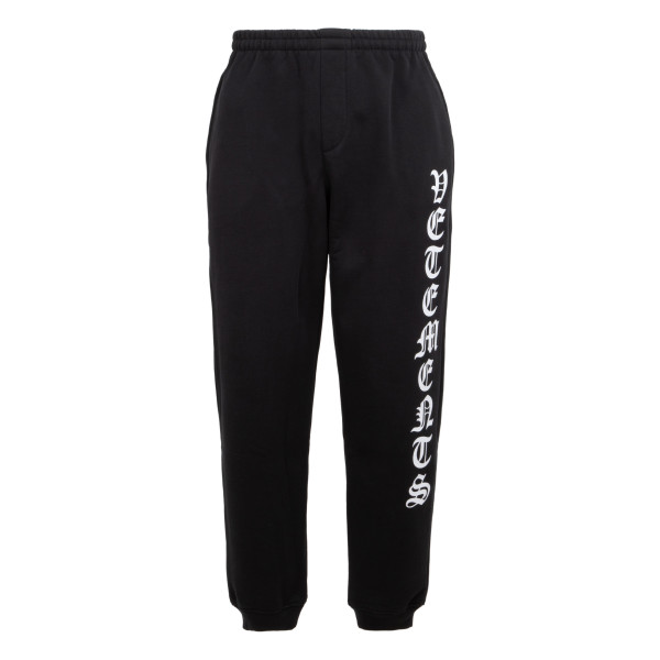 Black gothic font sweat pants