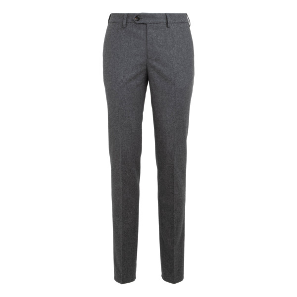 Gray wool slim fit pants