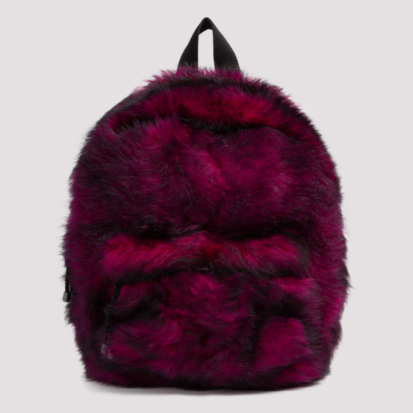 Fuchsia fur small backpack