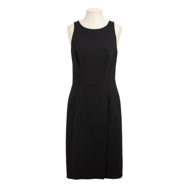 Black wool crepe dress