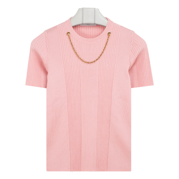 Pink top with chain detailing