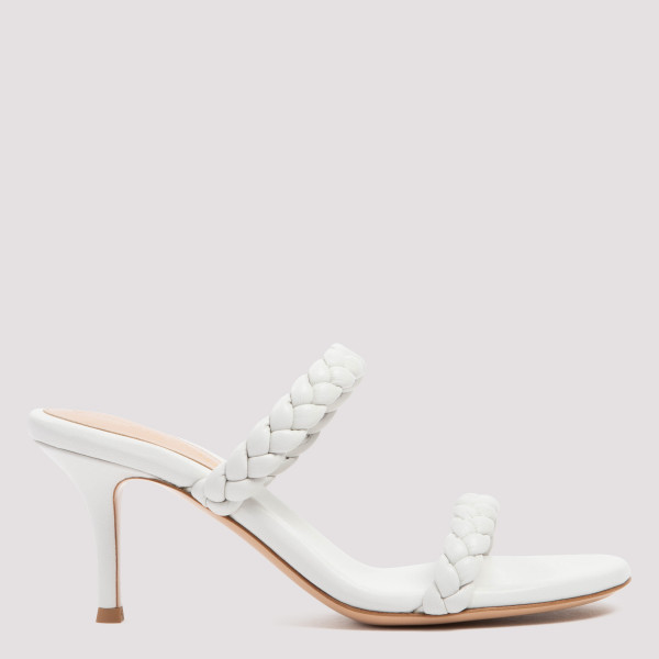 White braided nappa sandals